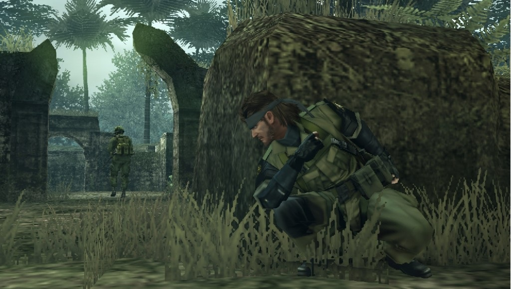 Big Boss crouching