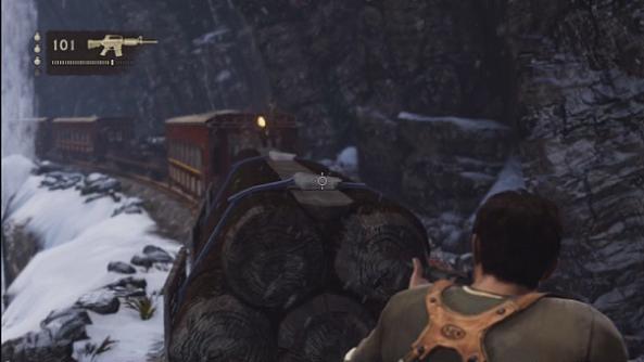 Uncharted 2 Train Shooting