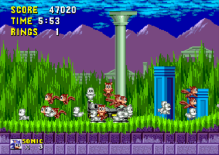Sonic the Hedgehog Freed Animals