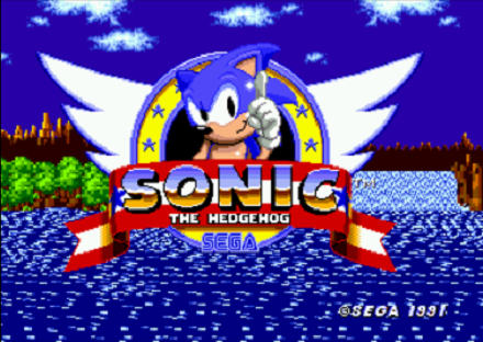 Sonic the Hedgehog Title Screen