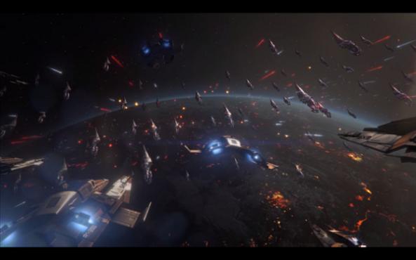Mass Effect 3 Fleet Reaper Battle